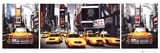 New York City - Taxis Triptych, Times Square Prints