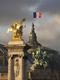 Detail of the Pont Alexandre Iii Bridge, Paris, France Photographic Print by Walter Bibikow
