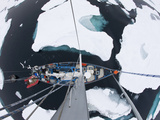 Sv Arctica Picking its Way Through Sea Ice in Hinlopen Strait, Nordaustlandet, Svalbard, Norway Photographic Print by Paul Souders