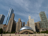 Millennium Park and Cloud Gate Sculpture, Aka the Bean, Chicago, Illinois, Usa Photographic Print by Alan Klehr