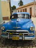 Antique 1950S Car, UNESCO World Heritage Site, Trinidad, Cuba Photographic Print by Michael DeFreitas