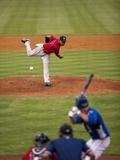 Pawtucket Red Sox and Durham Bulls Batter, Minor League Baseball Game, Durham, North Carolina, Usa Photographic Print by Paul Souders