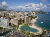 Waikiki, Honolulu, Oahu, Hawaii, Usa Photographic Print by Douglas Peebles