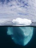 Submerged Base of Melting Iceberg from Jakobshavn Glacier Floating, Disko Bay, Ilulissat, Greenland Photographic Print by Paul Souders