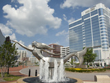 Mermaid Sculpture Fountain in Town Point Park, Norfolk, Virginia, Usa Photographic Print by Cindy Miller Hopkins