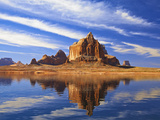 Mesas and Buttes Reflect into Lake Powell in Utah, Usa Photographic Print by Chuck Haney