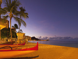 Sunrise, Waikiki Beach, Honolulu, Oahu, Hawaii, Usa Photographic Print by Douglas Peebles