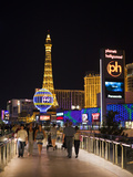 Evening from Walkway, Las Vegas Boulevard, the Strip, Las Vegas, Nevada, Usa Photographic Print by Walter Bibikow