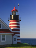 West Quoddy Head Light at Quoddy Head State Park in Lubec, Maine, Easternmost Point of Usa Photographic Print by Jerry & Marcy Monkman