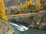 Footbridge to Goldfields Mining Centre, Kawarau River, Kawarau Gorge, South Island, New Zealand Photographic Print by David Wall