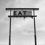 Eat Sign at Abandoned Truck Stop, Bliss, Idaho, Usa Photographic Print by Paul Souders