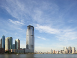 Manhattan Skyline Rises Above Hudson River, Jersey City, New Jersey, Usa Photographic Print by Paul Souders