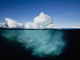 Underwater Image of Icebergs Floating Near Face of Jakobshavn Isfjord, Ilulissat, Greenland Photographic Print by Paul Souders
