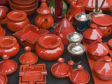 Ceramics for Sale, Souk, Medina, Marrakech (Marrakesh), Morocco Photographic Print by Nico Tondini