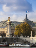 Grand Palais and Pont Alexandre Iii Bridge, Paris, France Photographic Print by Walter Bibikow