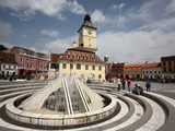 Fountain on the Sfatului Square, Brasov, Romania Photographic Print by Bruce Yuanyue Bi