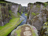 Landscape of Fjadrarglufur Gorge, Iceland Photographic Print by Joan Loeken