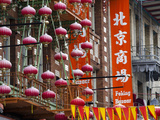 Chinese Street Lanterns, Chinatown, San Francisco, California, Usa Photographic Print by Walter Bibikow