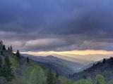 Sunrise View of Oconaluftee Valley, Great Smoky Mountains National Park, North Carolina, Usa Photographic Print by Adam Jones
