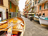 Fishing Boats in Manarola, Cinque Terre, Tuscany, Italy Photographic Print by Richard Duval