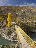 Footbridge across Kawarau River, Goldfields Mining Centre, Kawarau Gorge, South Island, New Zealand Photographic Print by David Wall