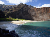Honopu Beach, Napali Coast, Kauai, Hawaii, Usa Photographic Print by Douglas Peebles