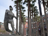 At&T Baseball Park, Statue of Baseball Player Willie Mays Jr., Soma, San Francisco, California, Usa Photographic Print by Walter Bibikow