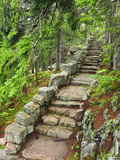 A Stone Staircase at the Thuya Gardens in Northeast Harbor, Maine, Usa Fotodruck von Jerry & Marcy Monkman