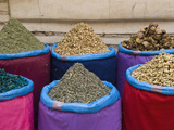 Spices for Sale, Souk in the Medina, Marrakech (Marrakesh), Morocco Photographic Print by Nico Tondini