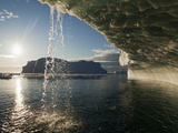 Midnight Sun Lights Iceberg, Jakobshavn Glacier, Disko Bay, Ilulissat, Greenland Photographic Print by Paul Souders