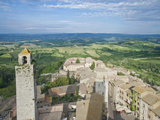San Gimignano and Countryside from the Palazzo Comunale (City Hall) Tower, Tuscany, Italy Photographic Print by Rob Tilley