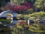 Stone 'Rainbow' Bridge or 'Koko-Kyo', Hiroshima's Shukkeien Formal Garden Dating to Ad 1620, Japan Photographic Print by Dave Bartruff