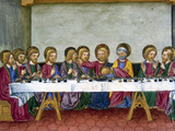 The Last Supper, Jesus, Codex of Predis (1476), Royal Library, Turin, Italy Photographic Print by 0 Prisma