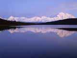 Mount Mckinley Reflection in Wonder Lake at Sunset, Denali National Park, Alaska, Usa Photographic Print by Gerry Reynolds
