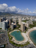 Waikiki, Honolulu, Oahu, Hawaii, Usa Photographic Print by Douglas Peebles