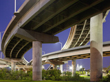 Interstate Highway Bridge Overpass at Dusk on Summer Evening, Charleston, South Carolina, Usa Photographic Print by Paul Souders
