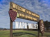 Welcome to Napa Valley Sign, Napa, Napa Valley Wine Country, Northern California, Usa Photographic Print by Walter Bibikow