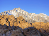 Lone Pine Peak, Alabama Hills with the Eastern Sierra Nevada Range, Lone Pine, California, Usa Photographic Print by Jamie & Judy Wild