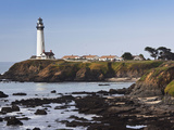Pigeon Point Lighthouse Station State Historic Park, Pigeon Point, Central Coast, California, Usa Photographic Print by Walter Bibikow