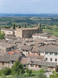 San Agostino Church and Countyside, San Gimignano, Tuscany, Italy Photographic Print by Rob Tilley