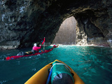 Kayaking, Sea Arch, Napali Coast, Kauai, Hawaii, Usa Photographic Print by Douglas Peebles
