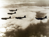 World War Ii (1939-1945), a Squad of British Aircraft Model Spitfire Flying, (October 1939) Photographic Print by  Prisma