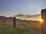 Ranching Country at Daybreak in the Sweetgrass Hills Near Whitlash, Montana, Usa Photographic Print by Chuck Haney