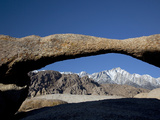 Lathe Arch with the Eastern Sierra Nevada Range, Lone Pine Peak, Alabama Hills, California, Usa Photographic Print by Jamie & Judy Wild