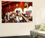 Miami, FL - June 21:  Miami Heat and Oklahoma City Thunder Game Five, Chris Bosh Wall Mural by Mike Ehrmann