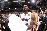 Miami, FL - June 21:  Miami Heat and Oklahoma City Thunder Game Five, LeBron James Photographic Print by Andrew Bernstein