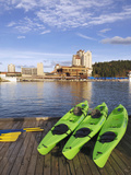 Kayaks Await the Guests at the Coeur D'Alene Resort on Lake Coeur D'Alene, Idaho, Usa Photographic Print by Richard Duval