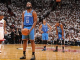Miami, FL - June 21:  Miami Heat and Oklahoma City Thunder Game Five, James Harden Photographic Print by Andrew Bernstein