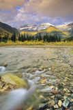 Mcdonald Creek with the Garden Wall in Autumn in Glacier National Park, Montana, Usa Wall Mural – Large by Chuck Haney