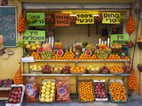 Downtown Fruit Stand, Tel Aviv, Israel Photographic Print by Walter Bibikow
